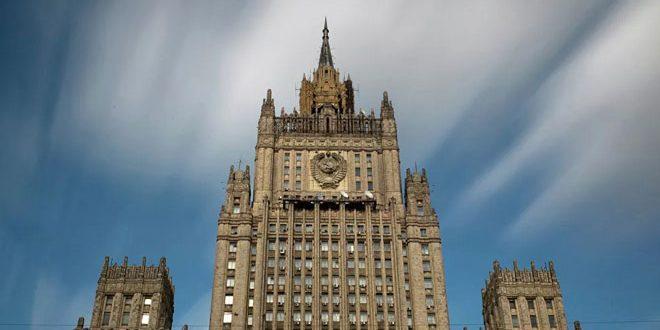محکومیت انفجار تروریستی مینی بوس نظامیان در دمشق توسط وزارت خارجه روسیه
