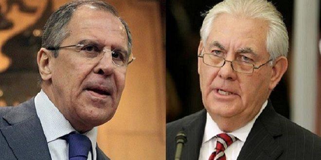 Lavrov examine avec Tillerson les développements du processus de règlement politique en Syrie