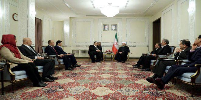 Rohani: Nous continuons à soutenir la Syrie jusqu'à la réalisation de la victoire sur le terrorisme