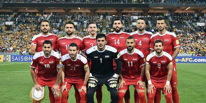 La sélection syrienne de football avance à la 76e place au niveau mondial