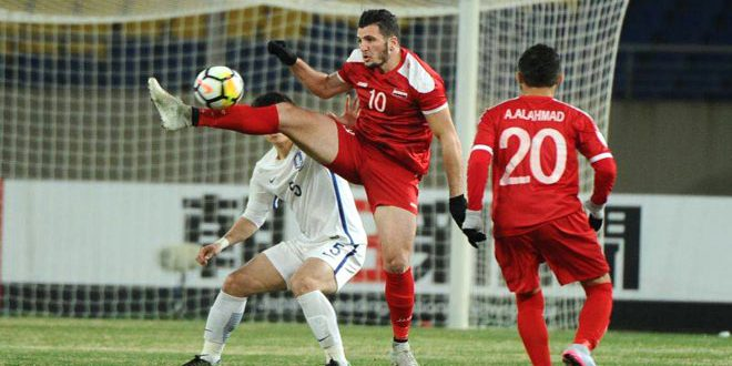 Elimination de la sélection olympique syrienne de football de la Coupe d'Asie