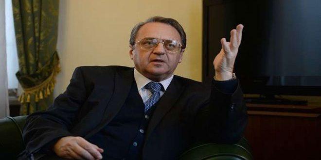 Bogdanov examine avec Ramzy l'application des décisions de la Conférence de Sotchi