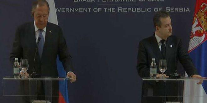 Lavrov: Les pays occidentaux ferment les yeux sur les agressions menées par les terroristes contre Damas