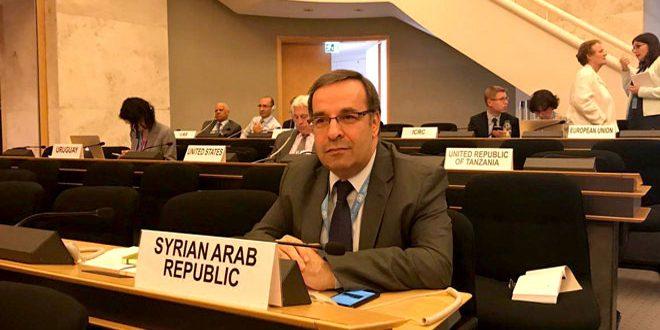 Ala : La Syrie rejette les tentatives de certains pays d'exercer la politisation