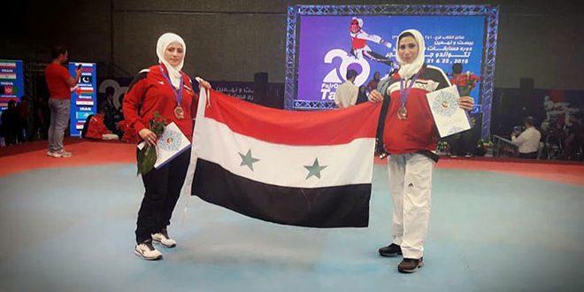 L'équipe syrienne de Taekwondo remporte deux médailles de bronze au Championnat international de Fajr