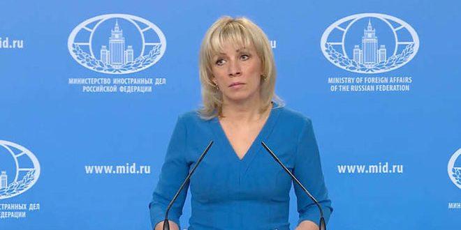 Zakharova: Le spectacle de l'attaque chimique présumée à Douma était le prétexte pour lancer l'agression tripartite contre la Syrie