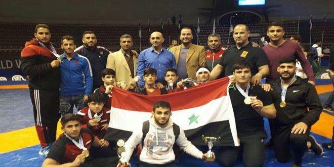 La sélection syrienne de lutte est deuxième au championnat méditerranéen en Algérie