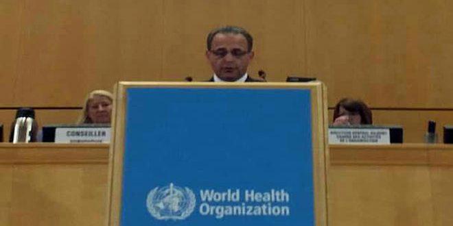 Yazaji : La Syrie a réussi à interdire la propagation des épidémies en dépit de la guerre terroriste