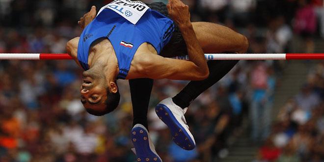 L'athlète syrien Majdeddine Ghazal gagne la médaille de bronze au saut en hauteur à la réunion de Monaco