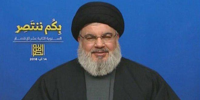 Sayed Nasrallah : L'entité d'occupation israélienne est un partenaire dans la guerre contre la Syrie