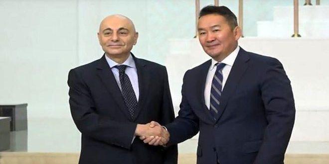 Battulga se dit satisfait pour le succès de la Syrie dans la purification de ses territoires du terrorisme