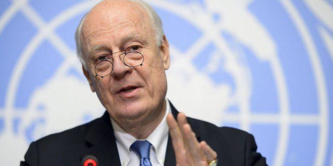 De Mistura envisage de tenir une rencontre avec Lavrov la semaine prochaine à Genève