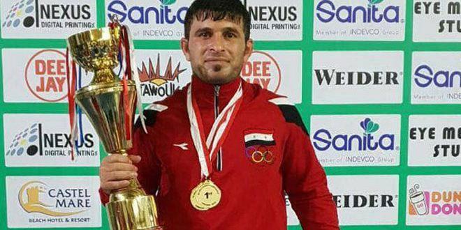 Le joueur syrien de sambo, Mounir Ghossen, occupe la 5e place au championnat du Monde à Bucarest