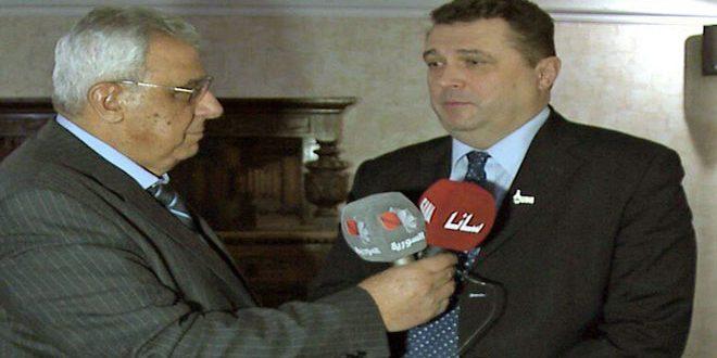 Solovyev: Les journalistes syriens ont joué un rôle professionnel dans le transmission de la vérité de la guerre terroriste contre leur pays