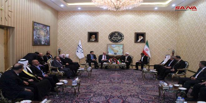 Le Comité parlementaire d'amitié syro-iranien discute à Téhéran du renforcement des relations entre les deux pays