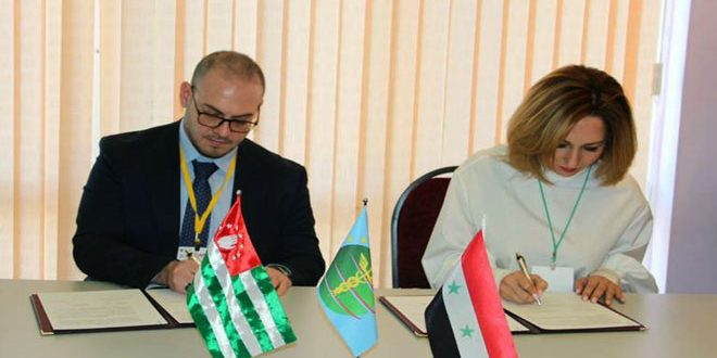 Accord sur la création d'une maison de produits artisanaux syriens en Abkhazie