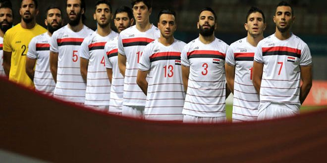 La sélection olympique syrienne de football bat son adversaire bahreïnie dans un match amical