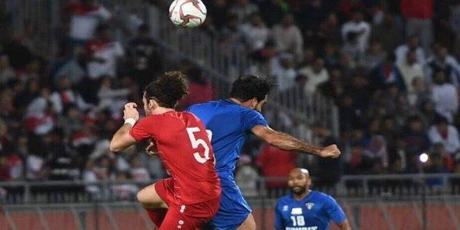La sélection syrienne de football prend le dessus sur son adversaire koweitienne dans un match amical