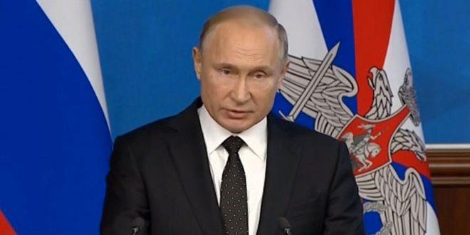 Poutine: Nous poursuivrons notre guerre contre le terrorisme et nous fournirons toute forme de soutien à la Syrie dans ce domaine