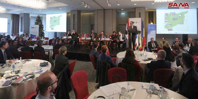 Avec la participation de 120 représentants des sociétés roumaines, tenue d'une conférence économique sur les opportunités d'investissement en Syrie