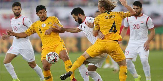 Après sa défaite devant l'Australie, la sélection syrienne de football a été éliminé de la Coupe d'Asie