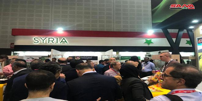 Grand afflux sur le pavillon syrien à l'exposition de ''Gulfood'' à Dubaï et signature de contrats sur l'exportation des produits syriens