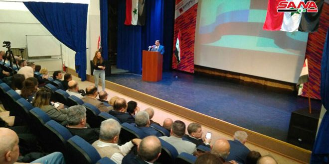 A l'occasion de la fête de l'Evacuation, cérémonie à l'ambassade de Syrie à Moscou