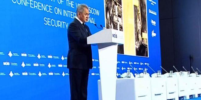 A l'ouverture de la conférence de Moscou pour la sécurité internationale, Choïgou: Les Etats-Unis empêchent 40000 déplacés syriens de sortir du camp de Rukbane