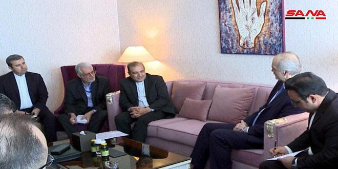 La délégation de la République arabe syrienne tient une réunion avec la délégation iranienne dans le cadre des pourparlers d'Astana