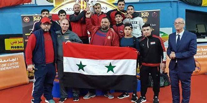 4 médailles d'argent et 3 de bronze pour l'équipe syrienne de lutte junior au championnat international de Taraji à Tunis