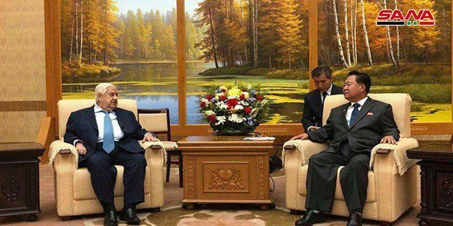 Al-Mouallem examine avec Ryong-Hae le développement des relations d'amitié entre la Syrie et la Corée démocratique