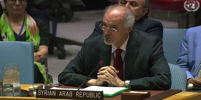 Jaafari : La libération du Golan syrien de l'occupant israélien par des tous les moyens garantis par le droit international est une priorité
