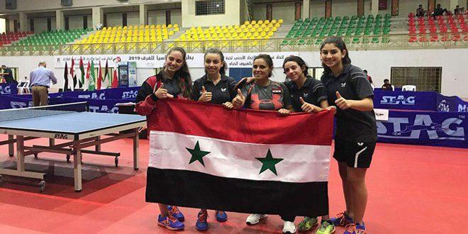 L'équipe syrienne de tennis de table (-15) remporte une médaille d'or au championnat des clubs d'Asie occidentale