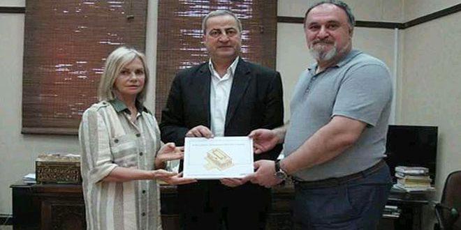 La Direction des Antiquités reçoit un modèle de documentation en trois dimensions pour l'ancienne ville de Palmyre