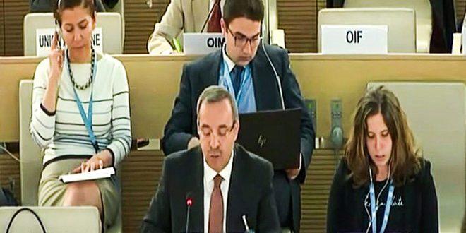 L'ambassadeur Ala: L'armée arabe syrienne est déterminée à éliminer les foyers du terrorisme sur tout le territoire syrien