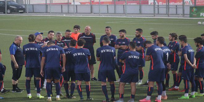 L'équipe olympique syrienne bat la Jordanie en match amical