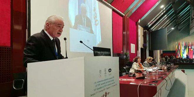 Anzour devant l'union interparlementaire: Ce qui se passe en Syrie est un exemple dangereux des violations du droit international
