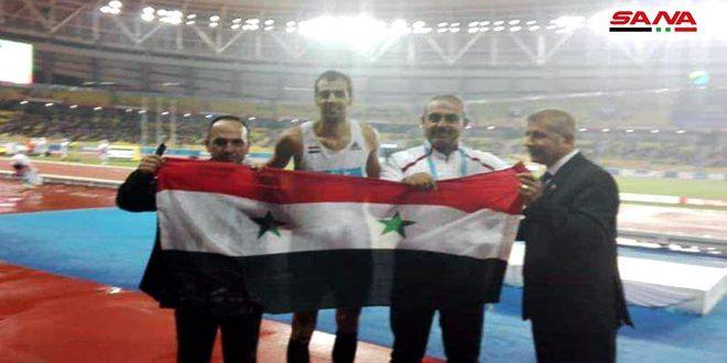 Ghazal gagne la médaille d'argent aux jeux mondiaux militaires