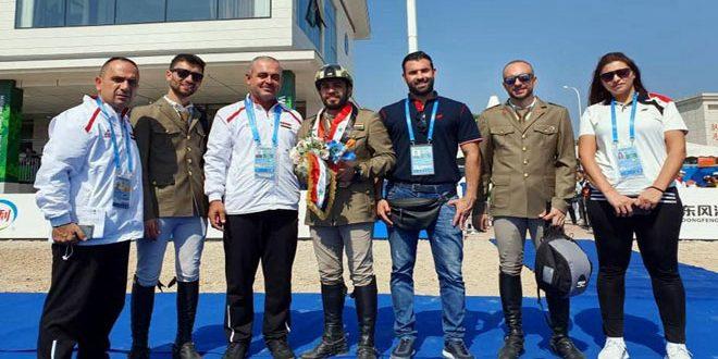 Le chevalier Hummam Chehab remporte la médaille de bronze aux Jeux olympiques militaires de Chine