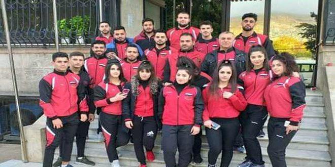 La sélection syrienne d'haltérophilie participe au championnat arabe en Jordanie