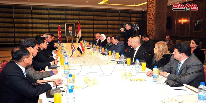 Début des travaux du comité économique mixte syro-coréen démocratique