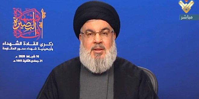 Nasrallah: Pour affronter l'agression américaine, les peuples de la région n'ont d'autre choix que la résistance