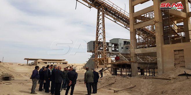 Réhabilitation des usines de phosphate endommagées du fait du terrorisme dans les mines des phosphates de Khneifis et al-Charqya à Palmyre