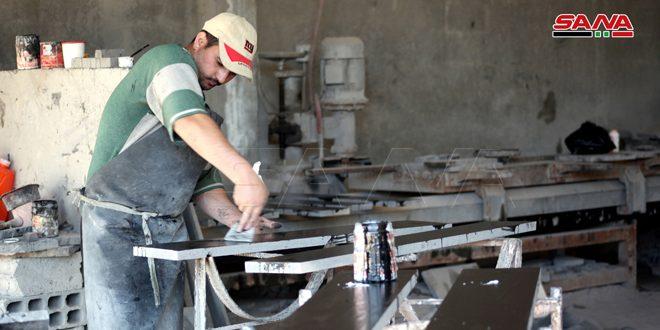 13 installations artisanales et industrielles entrent en phase de production à Soueidaa au cours du premier trimestre de l'an en cours
