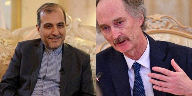 Asghar Khaji et Pedersen examinent les efforts pour régler la crise en Syrie