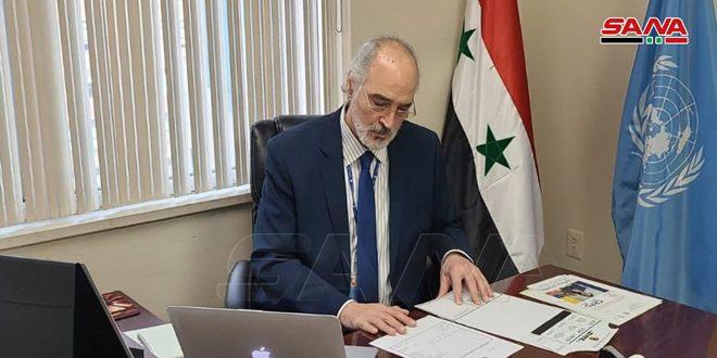 Jaafari: Les pays hostiles à la Syrie continuent de soutenir les réseaux terroristes et les milices séparatistes et de commettre les crimes contre le peuple syrien