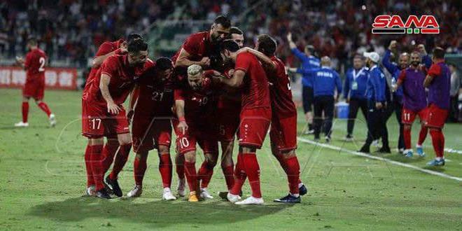 FIFA: La sélection syrienne de football occupe la 76e place au niveau mondial, la 10e au niveau asiatique et la 9e au niveau arabe
