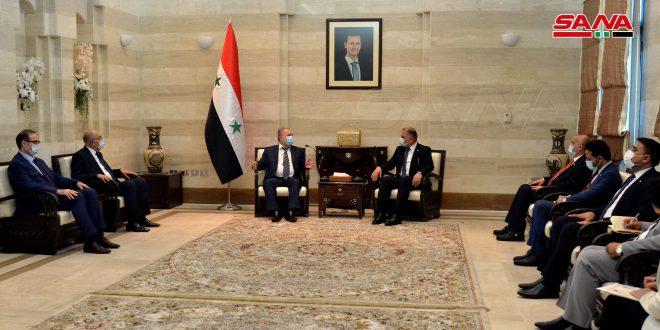 Examen du renforcement de la coopération syro-irakienne dans le domaine du transport terrestre et de l'échange commercial