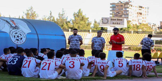 La sélection olympique syrienne de football poursuit son camp préparatoire pour les éliminatoires de la Coupe d'Asie