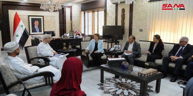 Pourparlers syro-omanais sur le soutien de la coopération culturelle notamment au niveau des musées